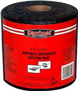 "Gardner Gibson 6""X150' Blk Fbg Fabric 4504 Ga Roof Seal Tape"