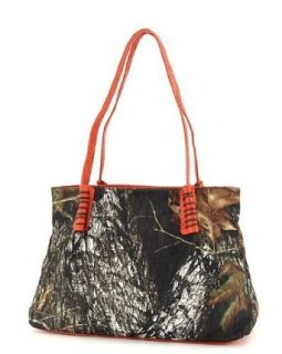 Mossy Oak Orange Licensed Camouflage Large Hobo Purse: Clothing