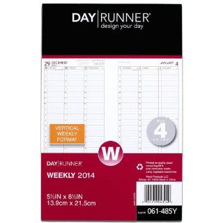 Day Runner 2014 Column Style Weekly Planning Pages Refill, 5.5 x 8.5 Inches (061 485Y) : Office Calendar Refills : Office Products