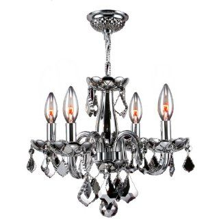 Worldwide Lighting W83100C16 CH Clarion 4 Light with Chrome Crystal Chandelier, Chrome Finish