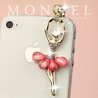 ip413 Cute Ballerina Ballet Dancer Anti Dust Plug Cover Charm for iPhone 3.5mm Cell Phone: Cell Phones & Accessories