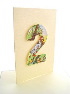 Childrens Handmade Birthday Card By Bombus