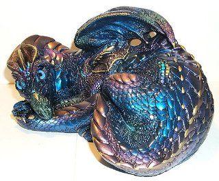 Windstone Editions Retired Peacock Mother Dragon Collectible Dragon Figurine   Original Stock # 501 P