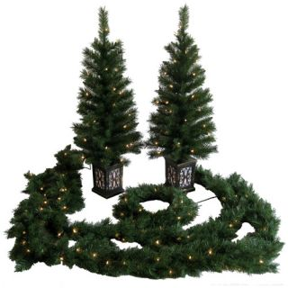 Holiday Time Pre Lit Entryway Christmas Trees