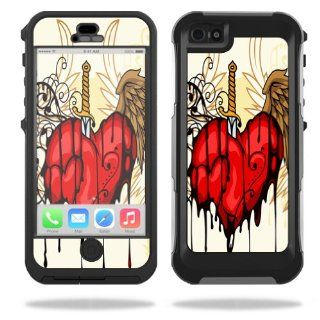 MightySkins Protective Vinyl Skin Decal Cover for OtterBox Preserver iPhone 5 / 5S Case Sticker Skins Stabbing Heart: Cell Phones & Accessories