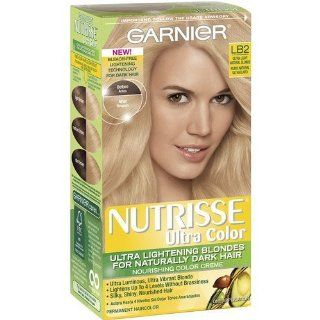 Garnier Nutrisse Ultra Color Permanent Haircolor, Light Natural Blonde LB2 (Pack of 3)  Body Scrubs  Beauty