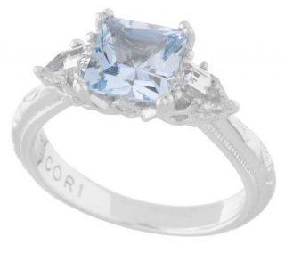 Tacori IV Diamonique Epiphany Blue Princess Ring —