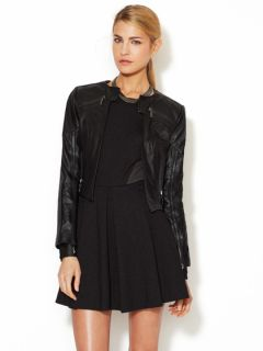 Galo Cropped Leather Jacket by Stella & Jamie