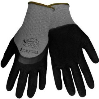 Global Glove 530MFG Tsunami Grip Nitrile Glove, Work, Medium, Gray/Black (Case of 72) Industrial & Scientific