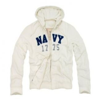 RD Genuine US Navy Waffle Lined Military Fleece Hoodie Cream Medium at  Men�s Clothing store Athletic Hoodies