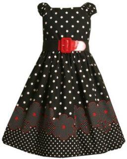 Bonnie Jean  Girls 7 16 Daisy Border Print Dress,Black,7 Clothing