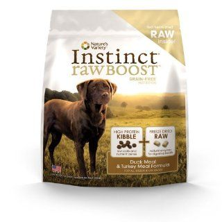 Instinct Raw Boost Grain Free Duck Meal & Turkey Meal Formula Dry Dog Food by Nature's Variety, 23.5 Pound Bag  Dry Pet Food