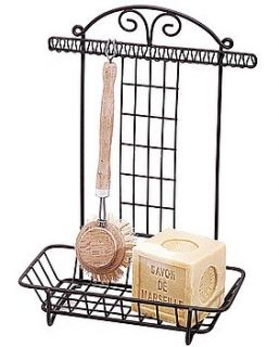'fermier' washing up soap and brush stand by lavender & sage