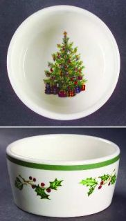 Christopher Radko Holiday Celebrations (Green Trim) Ramekin, Fine China Dinnerwa