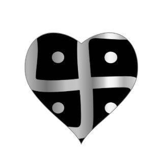 Swastika Symbol of Jainism religion Heart Stickers