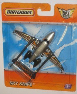 Matchbox Sky Busters Missions Aircraft   Sky Knife   2010 Mattel Toys & Games