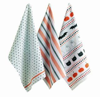 Tag Halloween Party 100 Percent Cotton Dishtowels, Set of 3   Dish Towels
