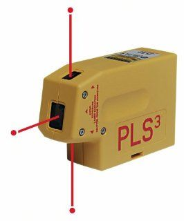 PLS Laser PLS 60523 PLS3 Laser Level Tool, Yellow   Line Lasers