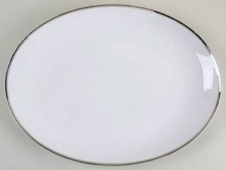 Fukagawa Platinum 16 Oval Serving Platter, Fine China Dinnerware   Arita, Plati