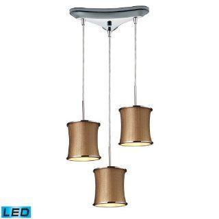 Fabrique Pendant LED Bulb/3 Lighted Triangle   Ceiling Pendant Fixtures