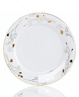 "Charter Club Dinnerware Grand Buffet Gold Silhouette 11.4"" Dinner Plate: Kitchen & Dining"