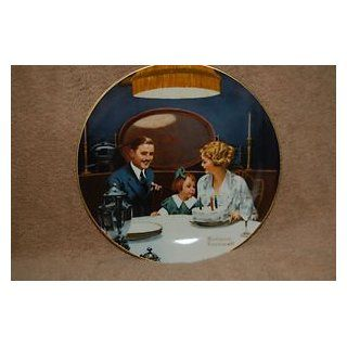 "NORMAN ROCKWELL 1ST EDITION #11780C ""BIRTHDAY WISH"" 8"" COLLECTOR PLATE"" : Commemorative Plates : Everything Else"