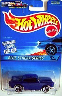 Hot Wheels 1997 Blue Streak Series #2 '55 Chevy #575 1:64 Scale: Toys & Games