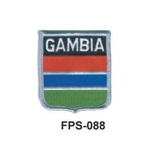 2 1/2'' X 2 3/4 Flag Embroidered Shield Patch Gambia(officially Licensed)