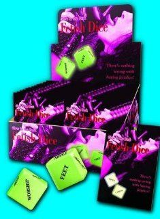 Holiday Gift Set Of Fetish Dice Glow And a box of Trojan ribbed condoms ( 3 condoms total in Package): Health & Personal Care