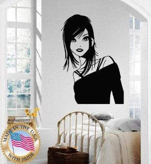 Wall Stickers Vinyl Decal Hot Sexy Girl Beautiful Hair Spa Salon Barber Fashion Style ig412   Wall Decor Stickers