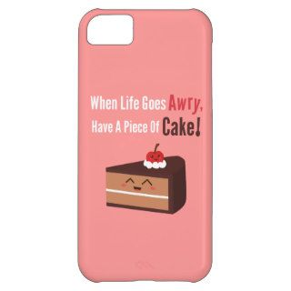 Cute Chocolate Cake with Funny but True Quote iPhone 5C Cover
