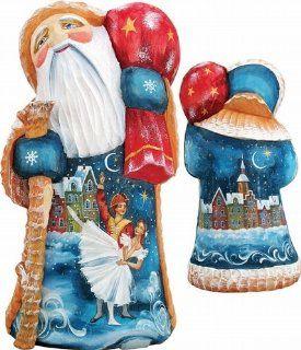 G. DeBrekht NUTCRACKER BALLET Wood Sculpture Hand Painted Masterpiece   Decorative Christmas Nutcrackers