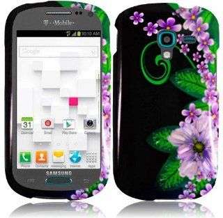For Samsung Galaxy Exhibit T599 Hard Design Cover Case Green Flower Accessory: Cell Phones & Accessories