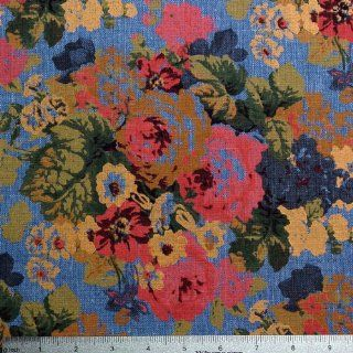 Retro Modern Floral Print C 2011 005 Blue