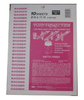 Badger Air Brush Co.601 Foto/Frisket Film Matte   Hobby Modeling Paints