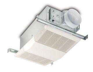 NuTone Model 605RP Heater/Fan 70 CFM 4.0 Sones, Exhaust Fan with 1300 Watt Heater, White Grille   Bathroom Fans