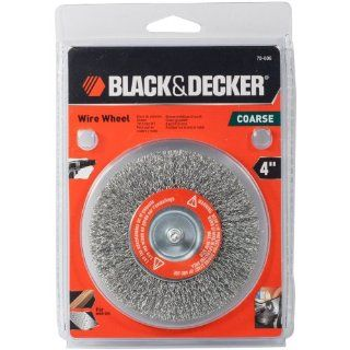"Black & Decker 4"" Crimped Wire Wheel Fine Part No. 70 606   Power Grinder Accessories"