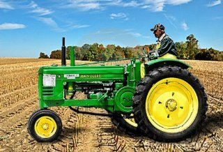 John Deere Tractor in Field Counted Cross Stitch Pattern on a CD: