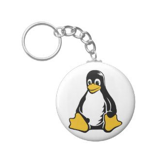 Tux Penguin   (Linux, Open Source, Copyleft, FSF) Key Chains