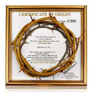 Sanctified Crown of Thorns From Jerusalem Made in the Holy Land Certificate of Origin   Collectible Figurines