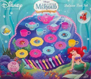 Disney Little Mermaid Special Edition Deluxe Tea Set with 30 Pieces Toys & Games