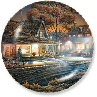 His First Date by Terry Redlin 8.25 inch Decorative Collector Plate   Terry Redlin Series Plates