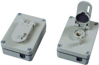 Allen Tel Products AT625WP 1 Port, USOC Wiring, 6 Position, 6 Conductor Outdoor Weather Resistant Surface Mounted Outlet Jack, Gray   Outlet Plates