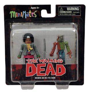 Walking Dead Minimates Series 2 Mini Figure 2 Pack Michonne & Zombie Toys & Games
