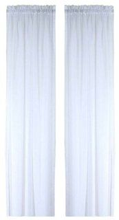 Ricardo Oyster Bay Sheer Voile Curtain Panel, 63 Inch Long, White   Window Treatment Panels