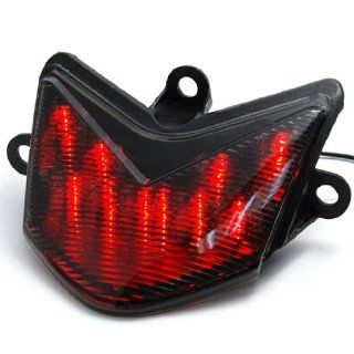 Directly Fit Custom Appearance Look Red LED Stop Brake Rear Tail Plate Light Taillight Turn Signal Smoke Blinkers Integrated Indicators For Kawasaki 2005 2006 05 06 ZX6RR 636 Automotive