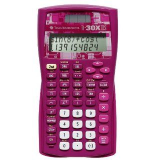 Texas Instruments TI 30X IIS 2 Line Scientific Calculator, Pink  Electronics