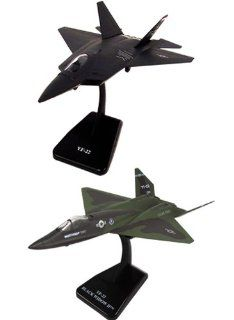 InAir E Z Build 2pc Set   F 22 Raptor and YF 23 Black Widow Toys & Games