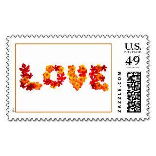El amor en el otoño Estampilal De Boda Invitacione Stamp