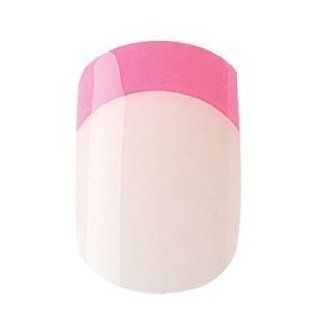 Cala French Neon Medium Length Chip Proof Fake Nails 24 pcs Nail File, Manicure Stick and Nail Glue Included Neon Pink 88252 : False Nails : Beauty